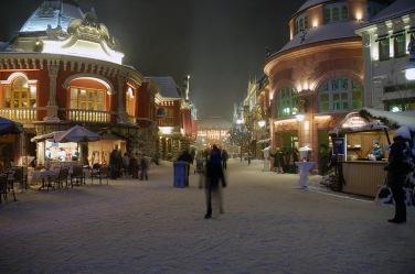Freizeitpark im winter